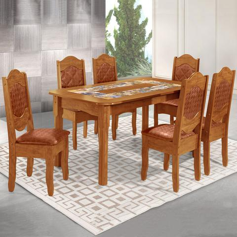 Imagem de Mesa De Jantar 6 Lugares Imperial Rústico/canela - Art Panta