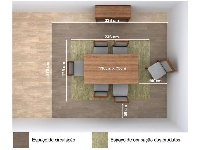 Imagem de Mesa de Jantar 6 Lugares Retangular Madesa