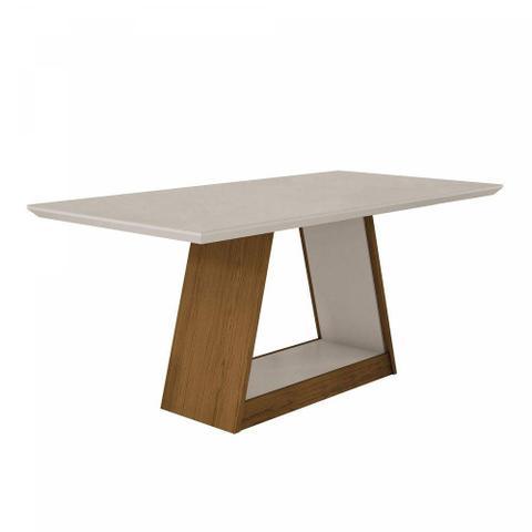 Imagem de Mesa de Jantar 6 Lugares Tampo Vidro Gênova Leifer Imbuia/Off White