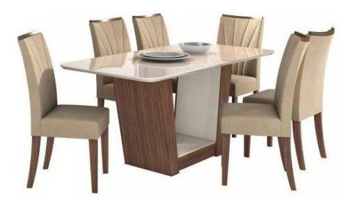 Imagem de Mesa de Jantar Apogeu com 6 Cadeiras