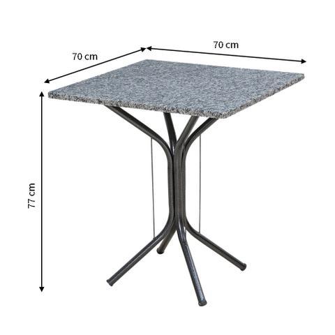 Imagem de Mesa de Jantar Quadrada Thais Preta 70 cm
