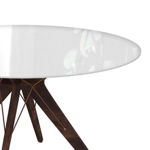 Imagem de Mesa de Jantar Redonda Spacy Off White e Café 140 cm