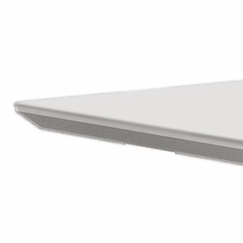 Imagem de Mesa de Jantar Retangular Tampo MDF/Vidro 120cm Pampulha Leifer Branco