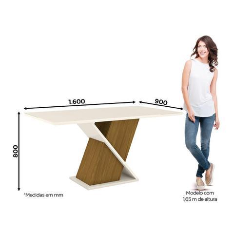 Imagem de Mesa de Jantar Solus com 6 Cadeiras Tauá - Nature/Off White/