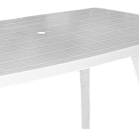 Imagem de Mesa de Plástico Retangular Desmontável Tiradentes Branca