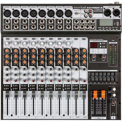 Imagem de Mesa De Som 12 Canais USB SX-1202 FX USB
