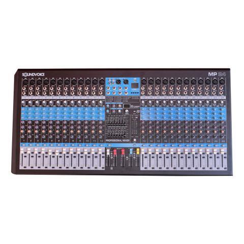 Imagem de Mesa de Som 24 Canais Balanceados XLR com USB Play / Efeito / Phantom / 2 Auxiliares - SoundVoice