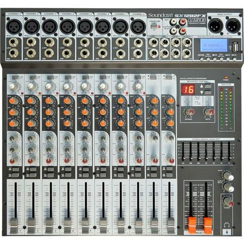 Imagem de Mesa De Som 8 Canais USB Sx1202fx Preto Soundcraft