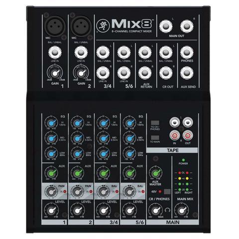 Imagem de Mesa de Som Mackie Mix8