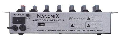 Imagem de Mesa De Som Mixer Nanomix Ll Audio Na602r 6 Canais