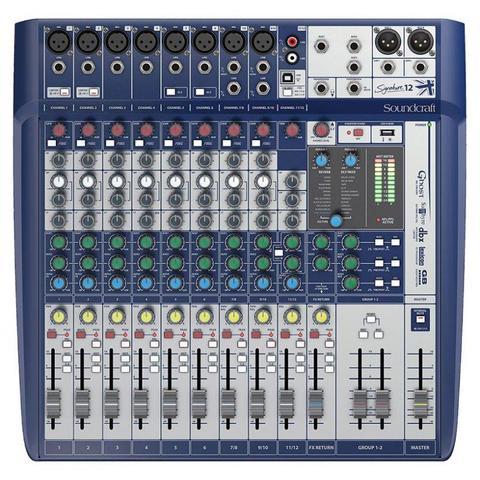 Imagem de Mesa de Som Signature 12 Soundcraft 12 Canais