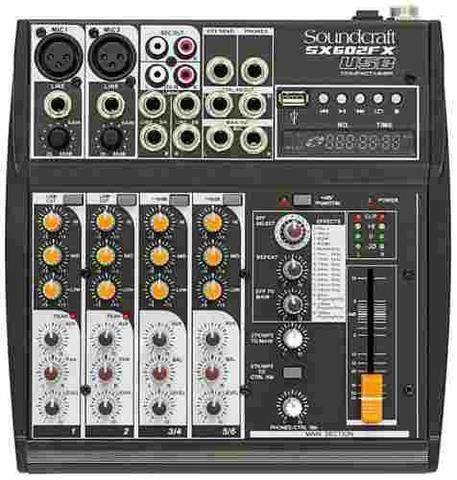 Imagem de Mesa De Som Soundcraft Sx 602 Fx Usb 6 Canais