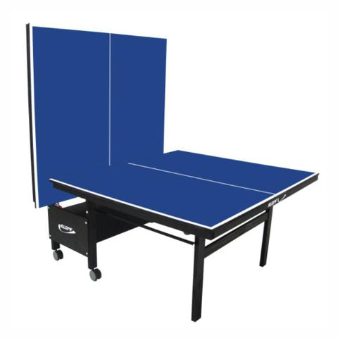 Imagem de Mesa de Tênis de Mesa Ping Pong Klopf 1084 com Rodízios MDF 18mm Paredão