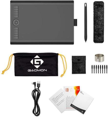Imagem de Mesa Digitalizadora Gaomon M10k Tablet Profissional para Desenho Digital