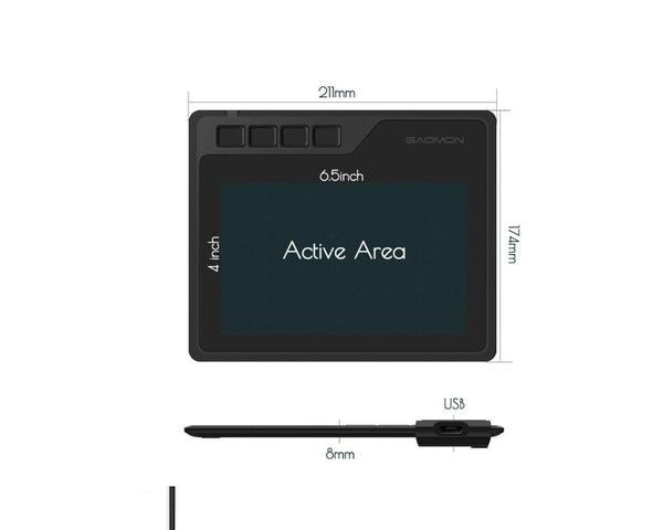 Imagem de Mesa Digitalizadora Gaomon S620 - Tablet para Desenho Gráfico + Luva Brinde