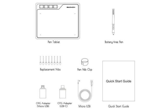 Imagem de Mesa Digitalizadora Gaomon S620 - Tablet para Desenho Gráfico