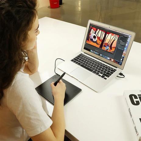 Imagem de Mesa Digitalizadora HS64 Huion Tablet Gráfico, Ótima para dar Aula Online