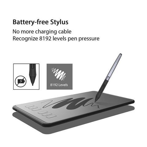 Imagem de Mesa Digitalizadora Huion H640P Inspiroy Pen Tablet de design gráfico