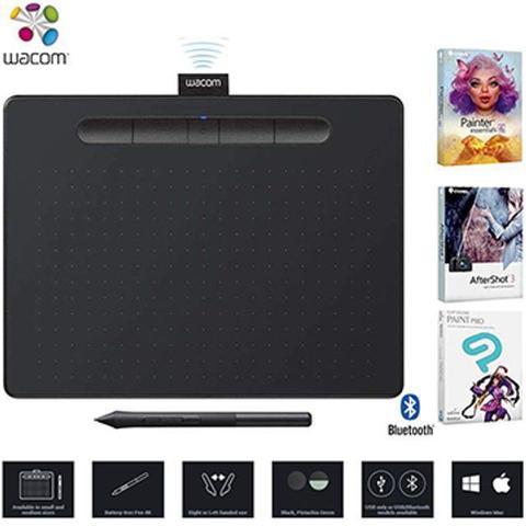 Imagem de Mesa Digitalizadora Wacom Intuos Creative Pen Tablet Bluetooth Medium Black CTL6100WLK0