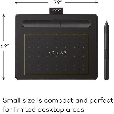 Imagem de Mesa Digitalizadora Wacom Intuos Pequena Bluetooth - CTL4100WLK- Preto