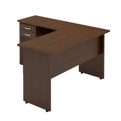 Imagem de Mesa em L para Escritório 2 Gavetas 136cmx160cm Style Plata Móveis Ruggine