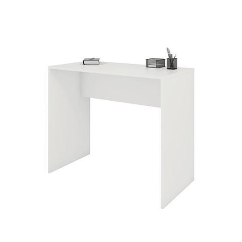 Imagem de Mesa escrivaninha para escritório modelo 02 sem gavetas - drw móveis - branco