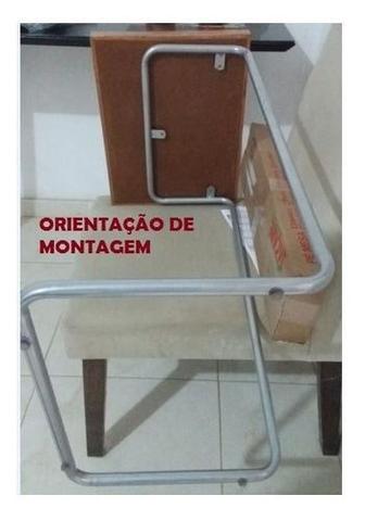 Imagem de Mesa Lateral de apoio Para Suporte Braço Sofá canela