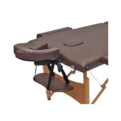 Imagem de Mesa Maca De Massagem Divã Dobrável Com Regulagem De Altura Marrom Kelter K-M105