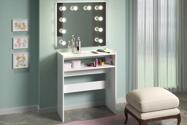 Imagem de Mesa Manicure Salão De Beleza Organizadora Esmaltes