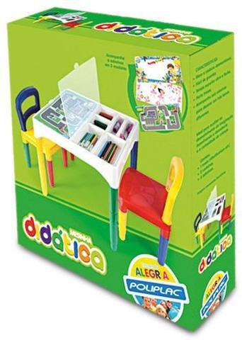 Imagem de Mesa Mesinha Infantil Didática Com Cadeiras - Poliplac