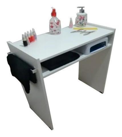 Imagem de Mesa P/Manicure C/ prateleira p/ estufa C/Alças cromadas+compartimento