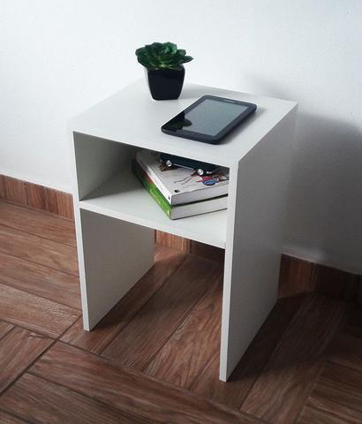 Imagem de Mesa para cabeceira de cama / mesinha  lateral ou de canto com kit de instalação fred planejados