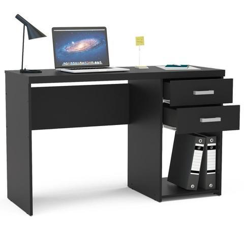 Imagem de Mesa para Computador 2 Gavetas Afrodite 1,20m Preto BP