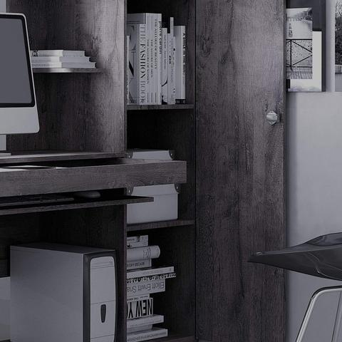 Imagem de Mesa para Computador com Armário 1 Porta 1 Gaveta Office Valdemóveis Ipê