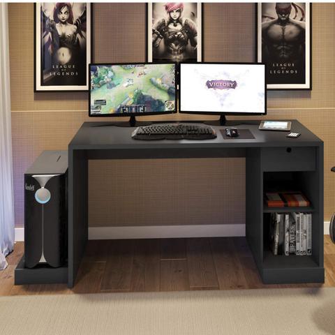 Imagem de Mesa para Computador Desk Game DRX 3000 Siena Móveis Preto