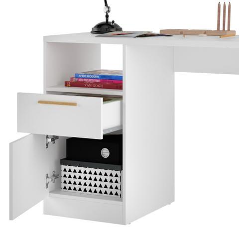 Imagem de Mesa Para Computador E Notebook Com 01 Porta E 01 Gaveta Office BC64