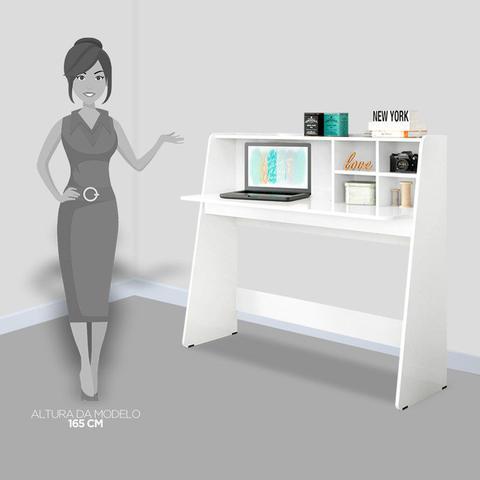Imagem de Mesa para Computador Notebook Escrivaninha Idéia Branco - Colibri
