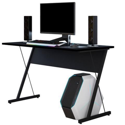 Imagem de Mesa Para Computador Notebook PC Gamer Kombat Preto - Lyam Decor