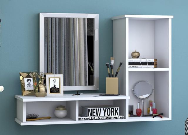 Imagem de Mesa para Computador Suspensa Escrivaninha e Mesa de Estudo