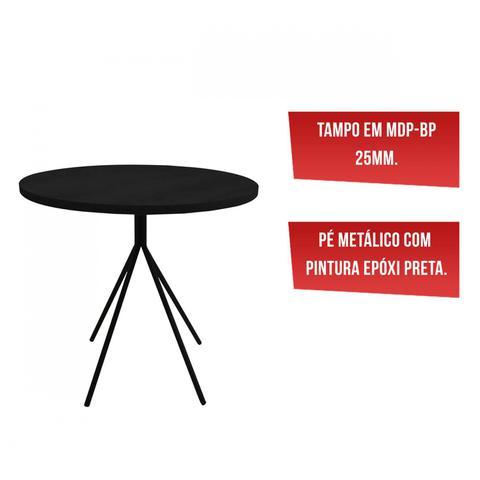 Imagem de Mesa para Cozinha Tri Retrô Siena Móveis Preto