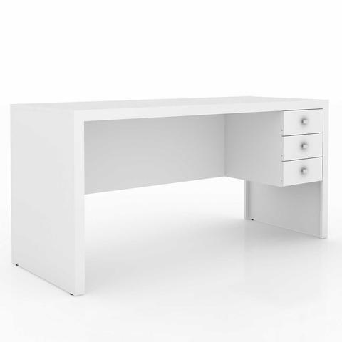 Imagem de Mesa para Escritório com 3 Gavetas ME4113 Tecno Mobili Branco
