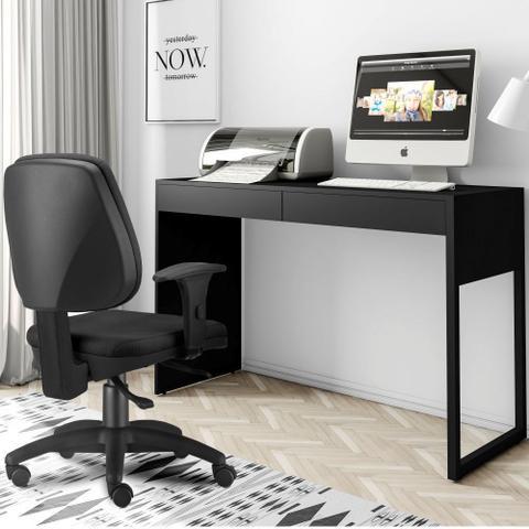 Imagem de Mesa Para Escritório e Home Office Work Preto Fosco - Lymdecor