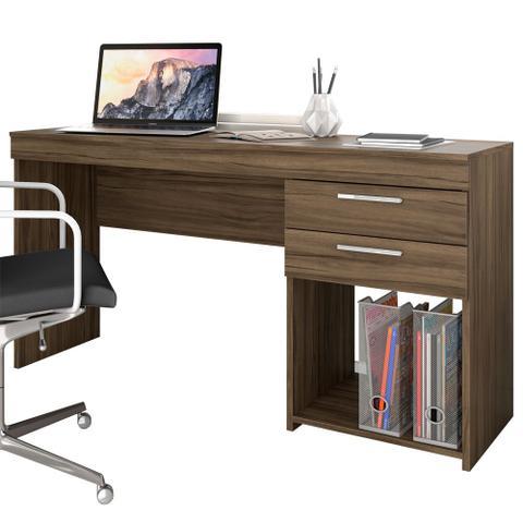 Imagem de Mesa Para Escritório Office 2 Gavetas Nogal Trend - Notavel
