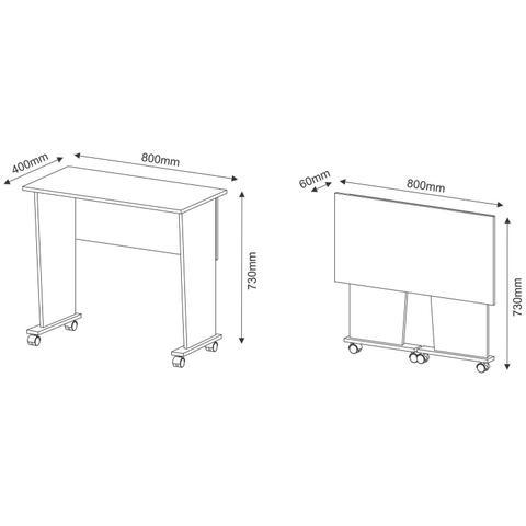 Imagem de Mesa para Notebook Multiuso Dobrável Tecno Mobili Branco