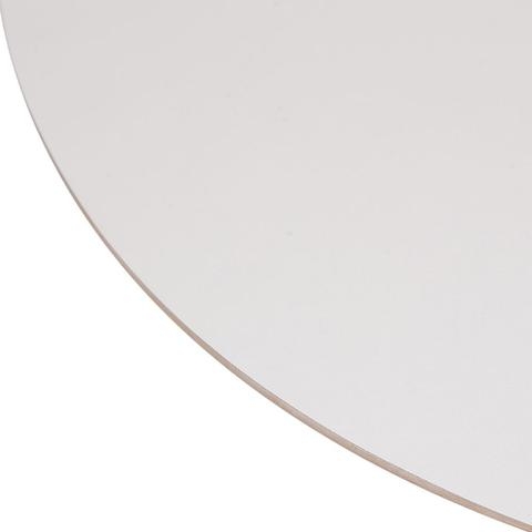Imagem de Mesa Saarinen Redonda Formica Branca 90cm Base Branca