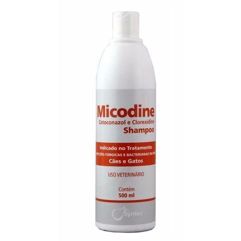 Imagem de Micodine Shampoo Syntec Cetoconazol e Clorexidine 500ml