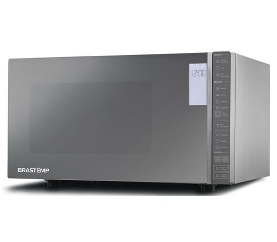 Imagem de Micro-ondas Brastemp 32 Litros cor Inox Espelhado com Grill e Painel Integrado