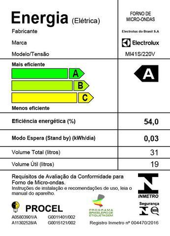 Imagem de Micro-Ondas com Painel Integrado Electrolux 31L (MI41S)