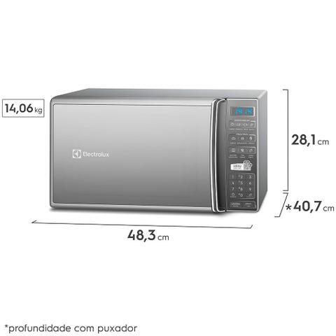 Imagem de Micro-Ondas  cor Prata 27L com 55 Receitas pré-programadas no Menu Online Electrolux (MS37R)