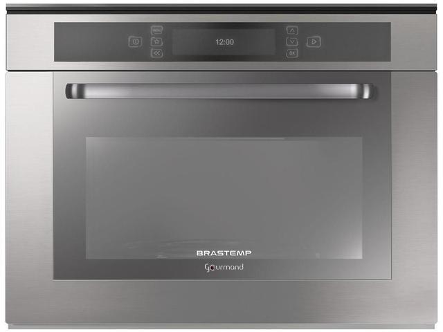 Imagem de Micro-ondas de Embutir 40L Inox Brastemp Gourmand BMO40ARBNA 220V